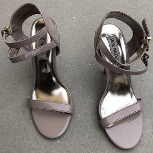 Steve Madden patent leather stiletto heel sandals